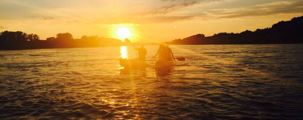 Západ slnka na Dunaji
