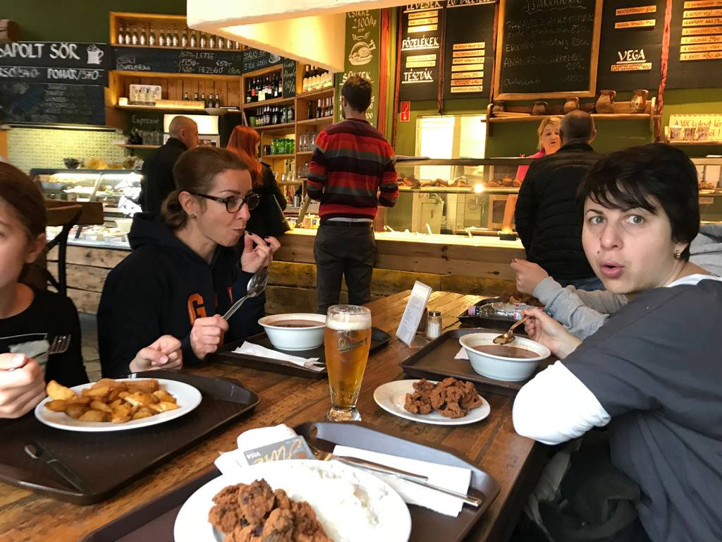 Lacná reštaurácia v Budapešti