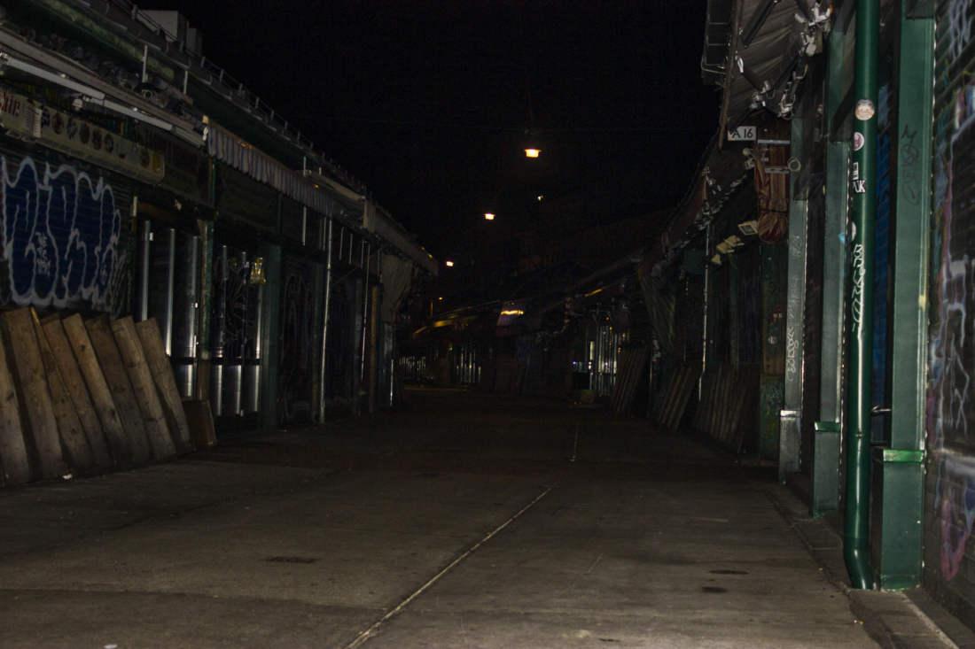 Naschmarkt v noci