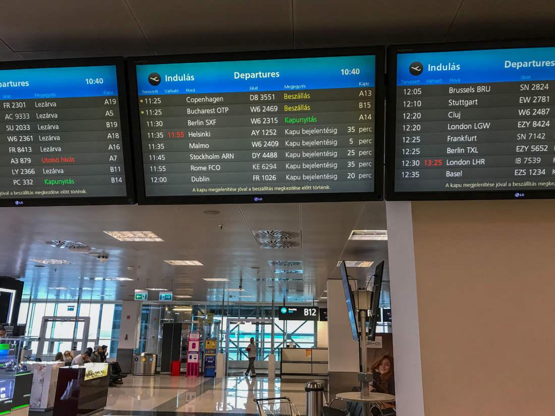 Budapešť letisko