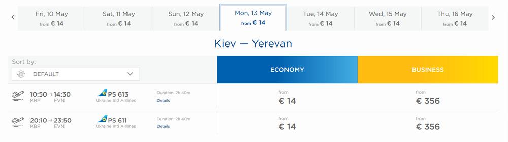 lacné letenky z Kyjeva