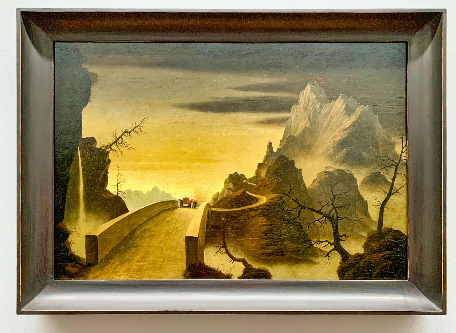 Mountain Landscape with Automobile