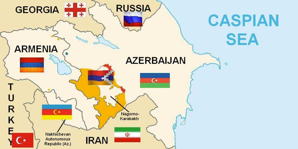 Arménsko, Azerbajdžan, Turecko, Irán