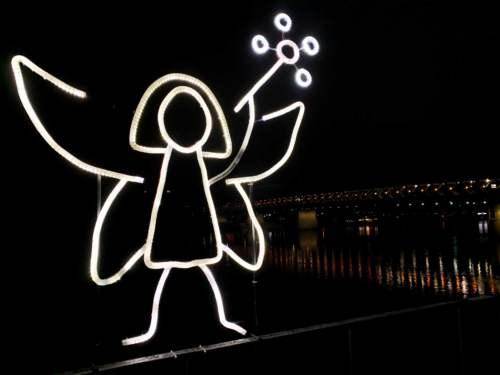 Biela noc, nábrežie Dunaja